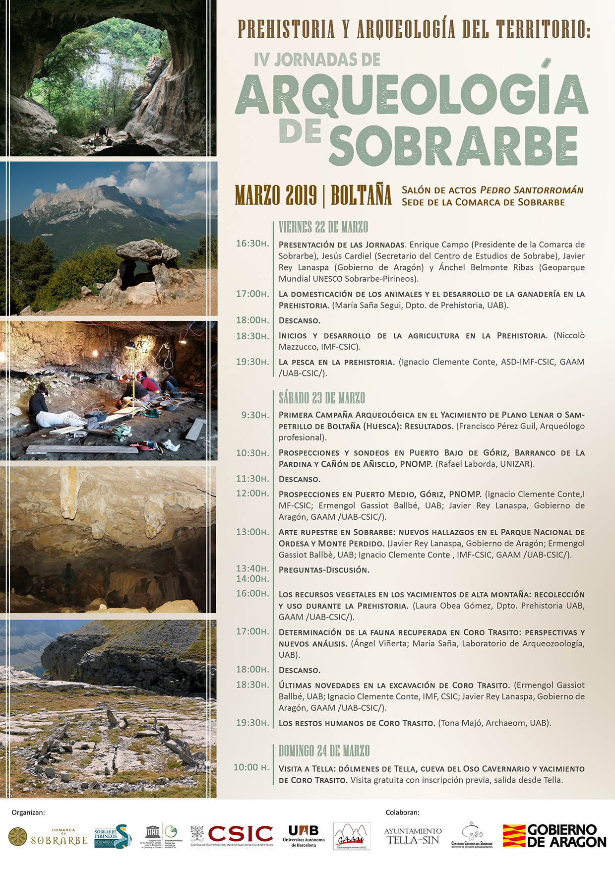 Forthcoming Open Workshop: IV Jornadas de Arqueología de Sobrarbe