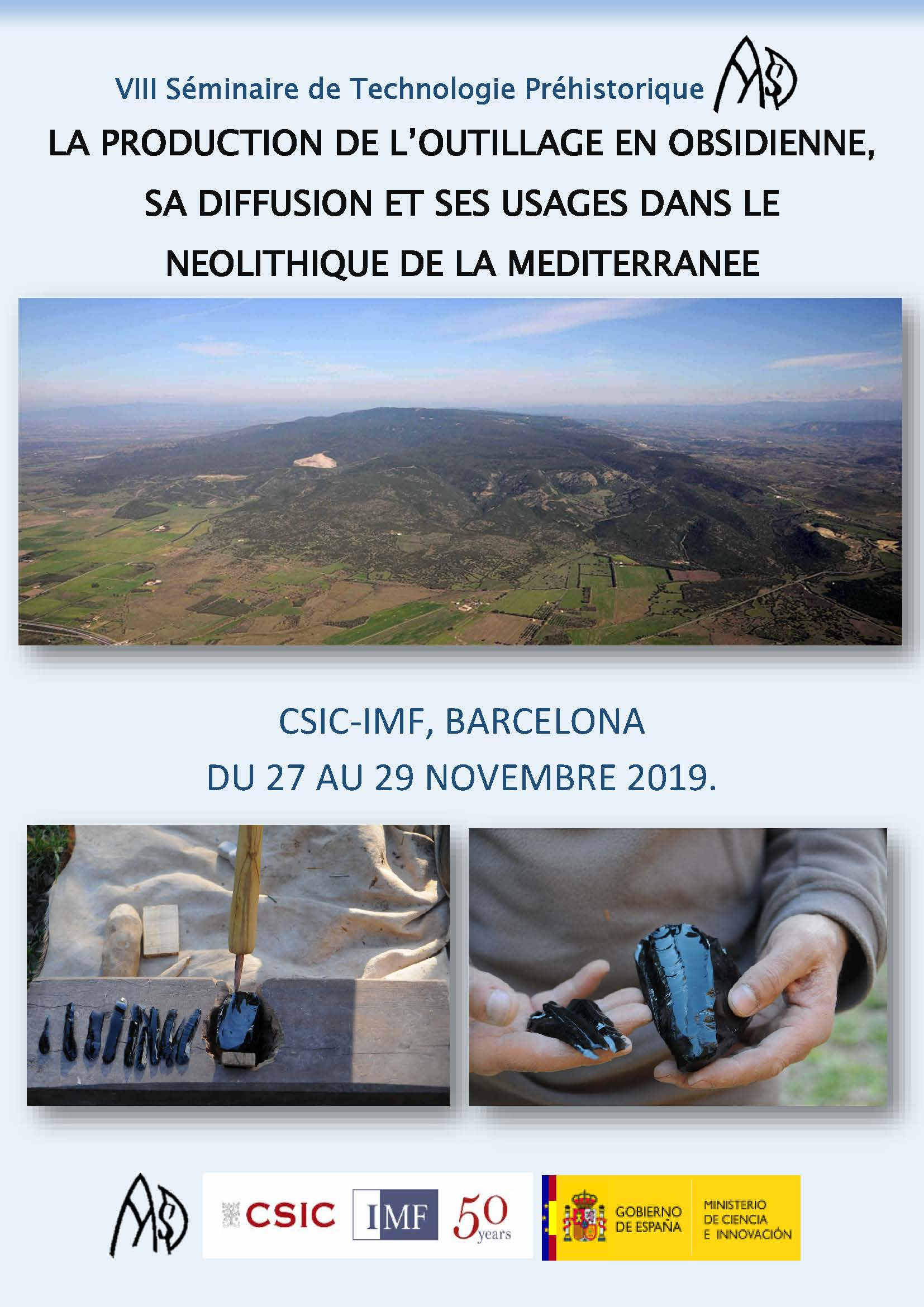 A note of reminder about our next Prehistoric Technology Seminar  (November 27-29, 2019)